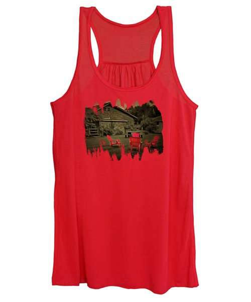 The Red Chairs In Neskowin Women's Tank Top