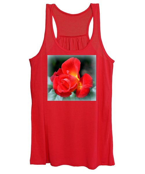 The Red Rose Women's Tank Top