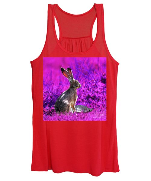 The Tortoise And The Hare . Magenta Square Women's Tank Top