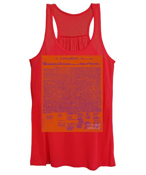 The United States Declaration Of Independence 20130215m108 Women's Tank Top