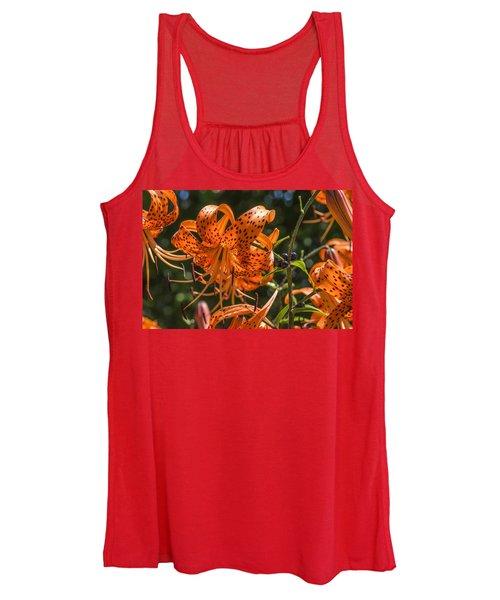 Tiger Lilies In The Sun Women's Tank Top