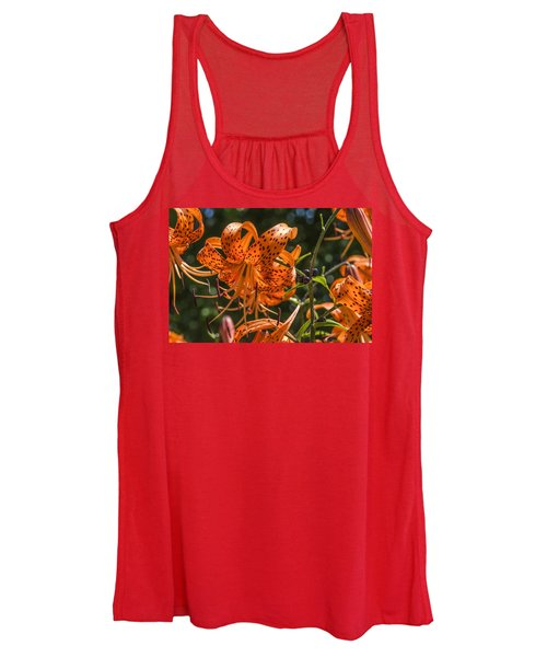 Tiger Lilies In The Sun Women's Tank Top