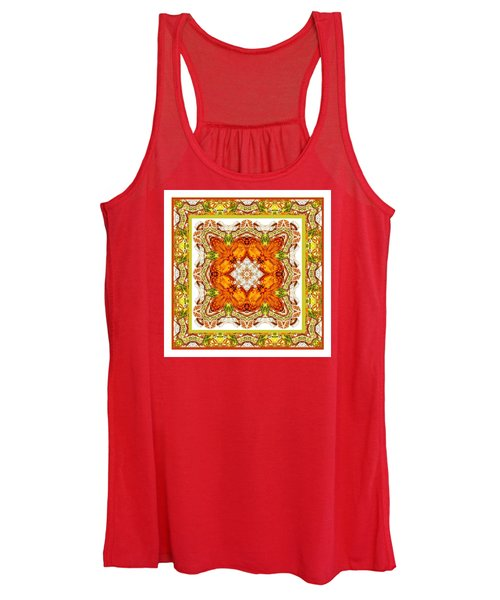 Topaz And Peridot Bling Kaleidoscope Women's Tank Top