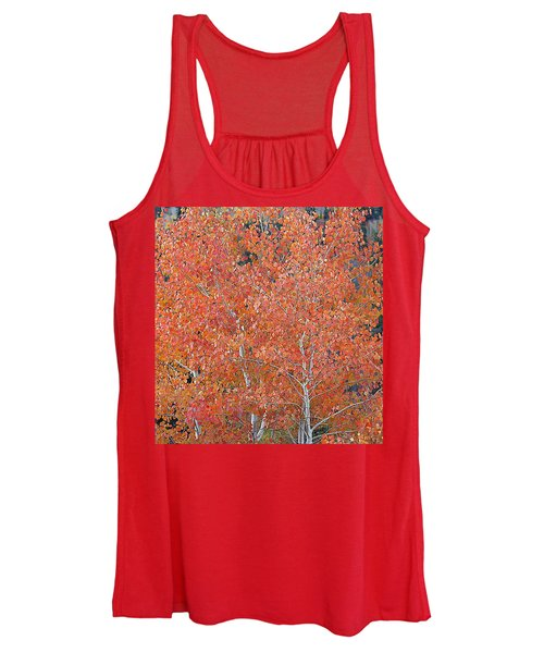 Translucent Aspen Orange Women's Tank Top
