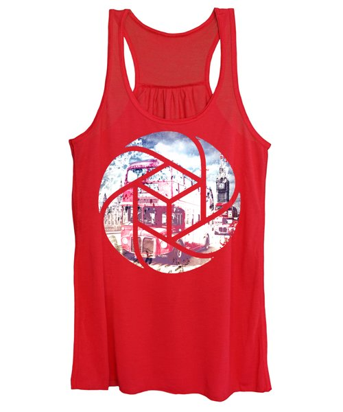 Trendy Design London Red Buses  Women's Tank Top