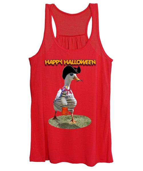 Trick Or Treat For Cap'n Duck Women's Tank Top