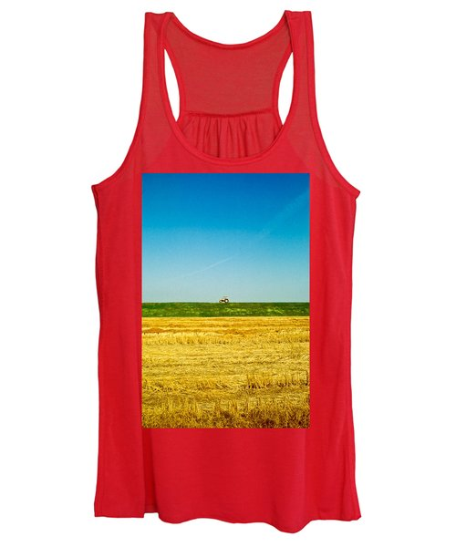 Tricolor With Tractor Women's Tank Top