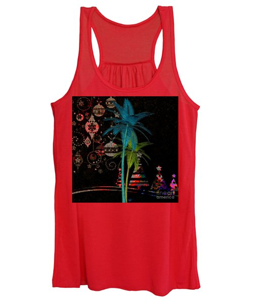 Tropical Holiday Red Women's Tank Top