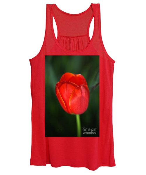 Tulip Red With A Hint Of Yellow Women's Tank Top