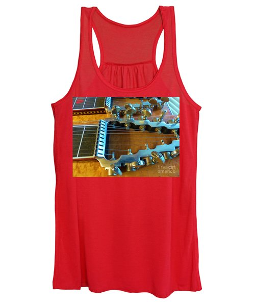 Tuning Pegs On Sho-bud Pedal Steel Guitar Women's Tank Top