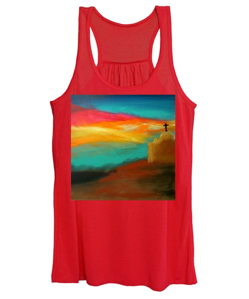 Turquoise Trail Sunset Women's Tank Top
