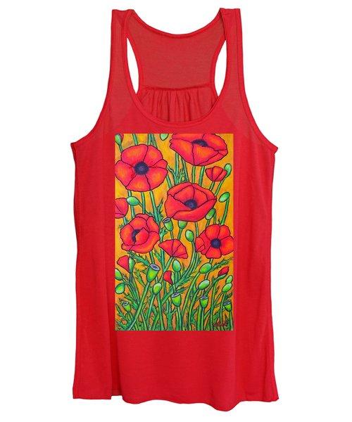 Tuscan Poppies - Crop 2 Women's Tank Top