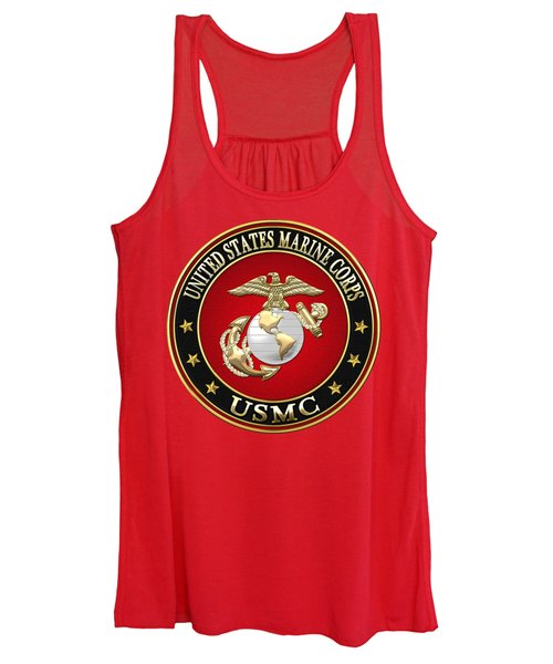 U. S. Marine Corps - U S M C Emblem Special Edition Women's Tank Top