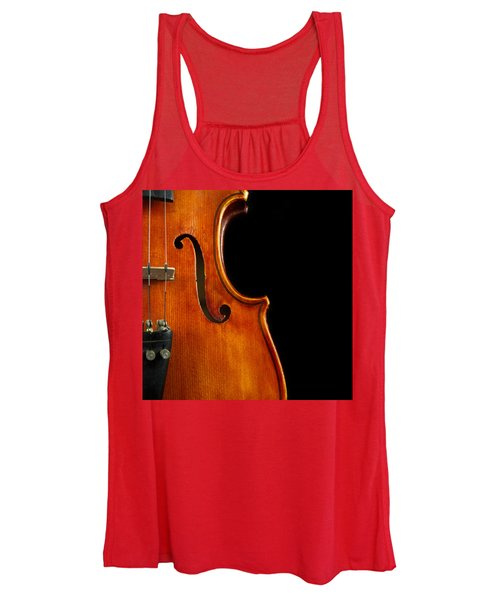 Vertical Violin Art Women's Tank Top