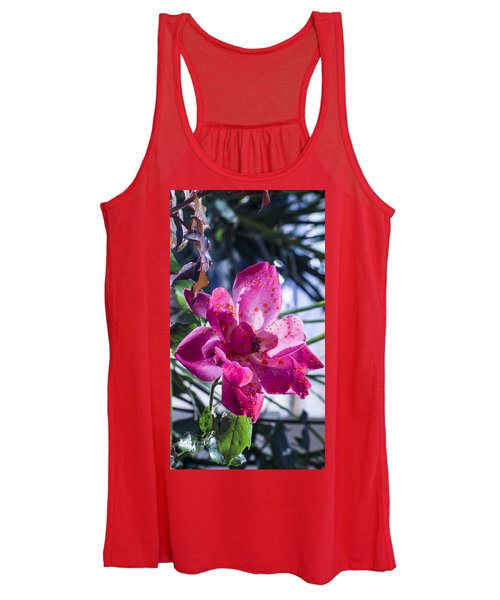 Vibrant Pink Rose Women's Tank Top