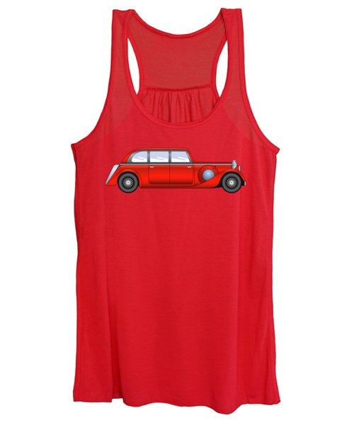 Vintage Model Of Car - Sedan Women's Tank Top