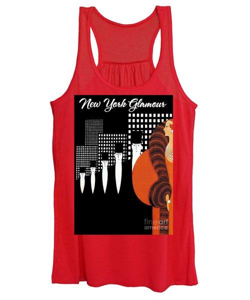 Vintage New York Glamour Art Deco Women's Tank Top