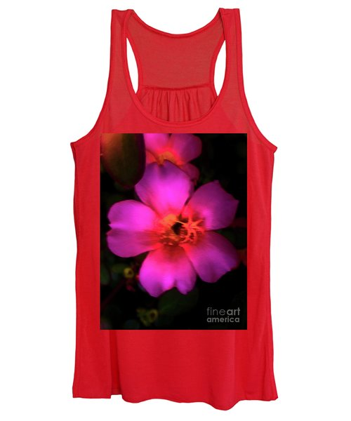 Vivid Rich Pink Flower Women's Tank Top