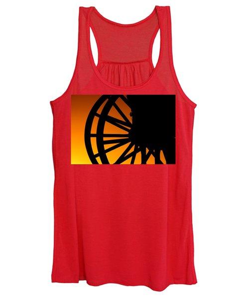 Wagon Wheel Sunset Women's Tank Top
