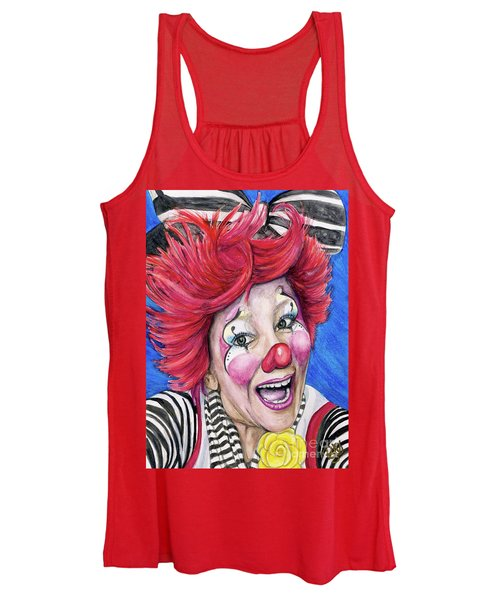 Watercolor Clown #24 Kelly Lynn Diehl Women's Tank Top