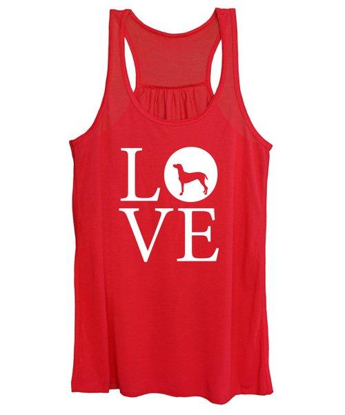 Weimaraner Love Red Women's Tank Top