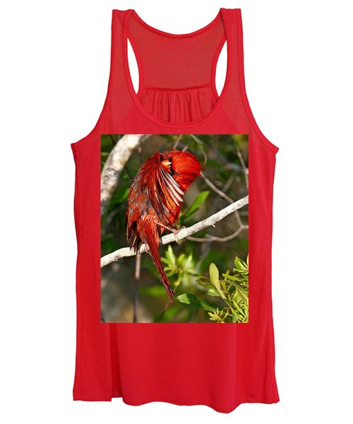 Wet Cardinal Women's Tank Top