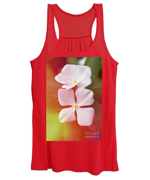 White Vinca With Vivid Highligts  Women's Tank Top