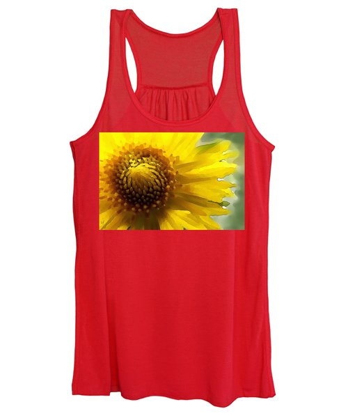 Wild Sunflower Up Close Women's Tank Top