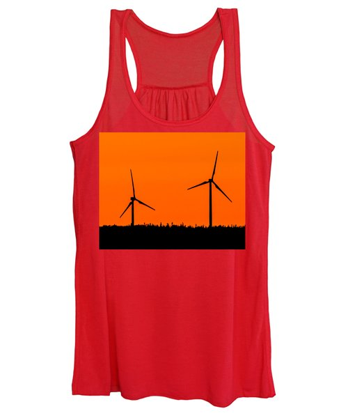 Wind Silhouette Women's Tank Top