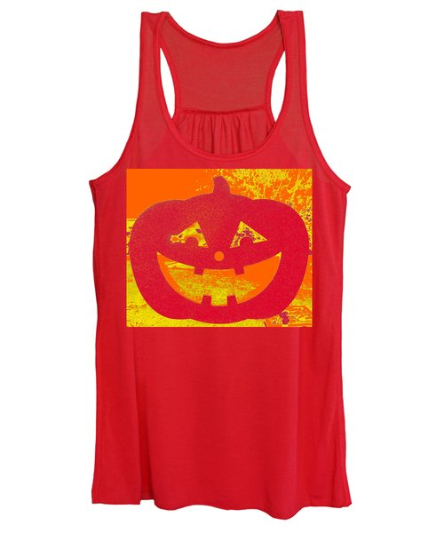 Window Pumpkin #4 Women's Tank Top