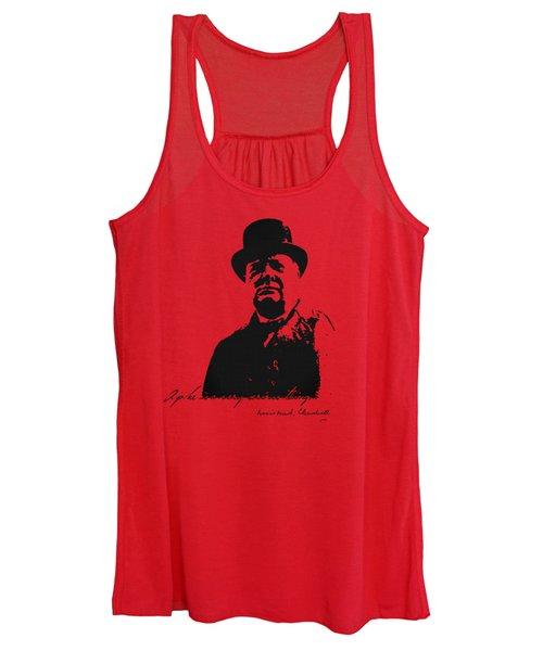 Winston Churchill - A Joke Is A Very Serious Thing Women's Tank Top