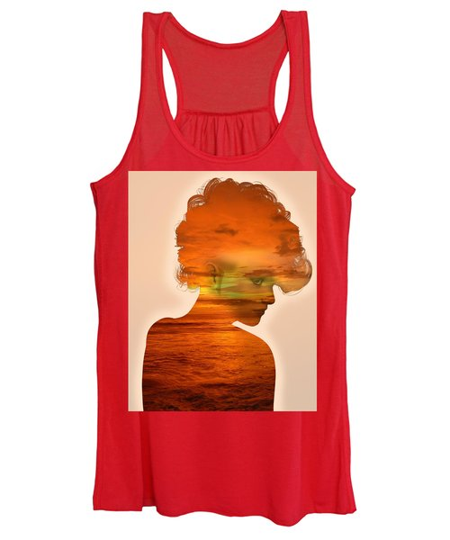 Woman And A Sunset Women's Tank Top