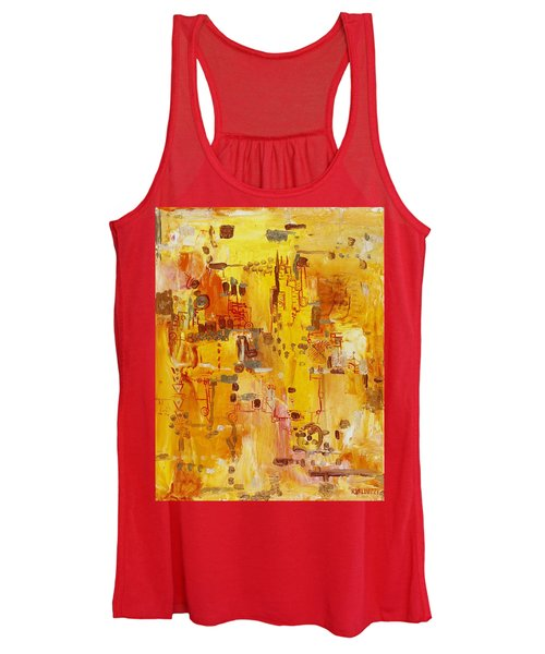 Yellow Conundrum Women's Tank Top