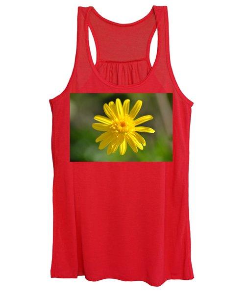 Women's Tank Top featuring the photograph Yellow Fireworks by Michael Colgate