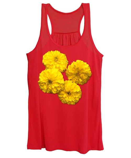 Yellow Flowers Women's Tank Top
