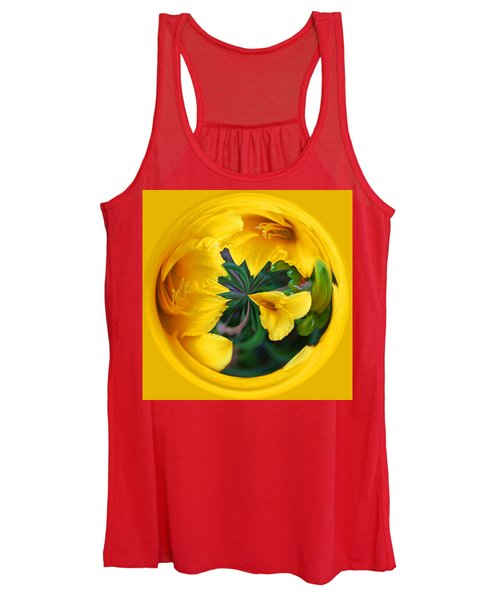 Yellow Lily Orb Women's Tank Top