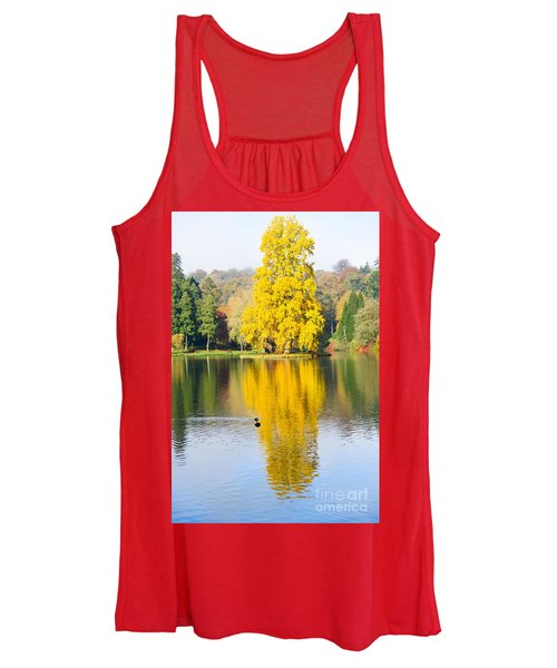 Yellow Tree Reflection Women's Tank Top