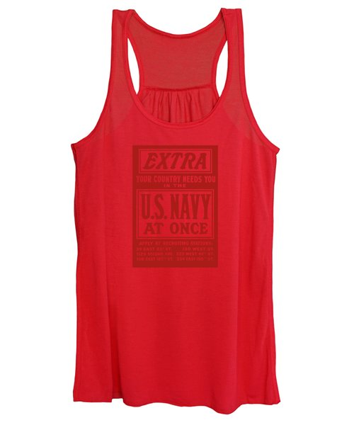 Your Country Needs You In The Us Navy Women's Tank Top