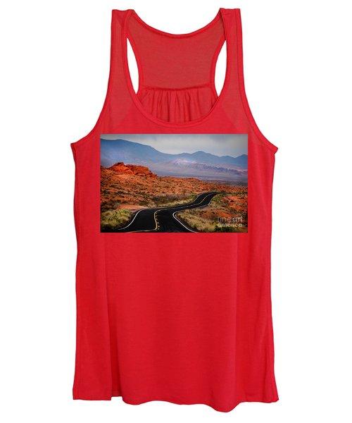 Winding Road In Valley Of Fire Women's Tank Top