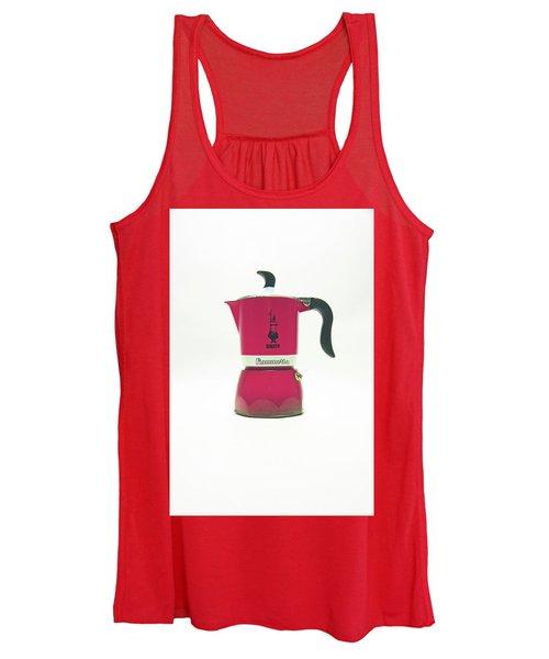 10-05-19 Studio. Red Cafetiere. Women's Tank Top
