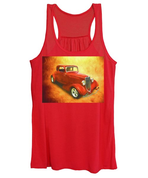 1934 Ford On Fire Women's Tank Top