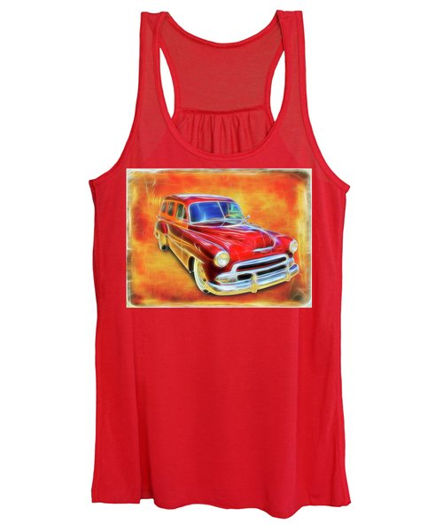 1951 Chevy Woody Women's Tank Top