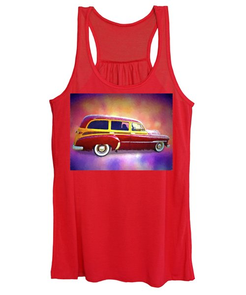 1951 Chevy Woody Sideview Women's Tank Top