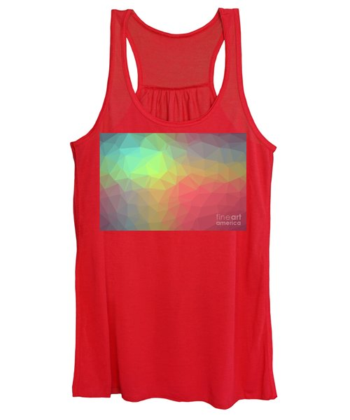 Gradient Background With Mosaic Shape Of Triangular And Square C Women's Tank Top
