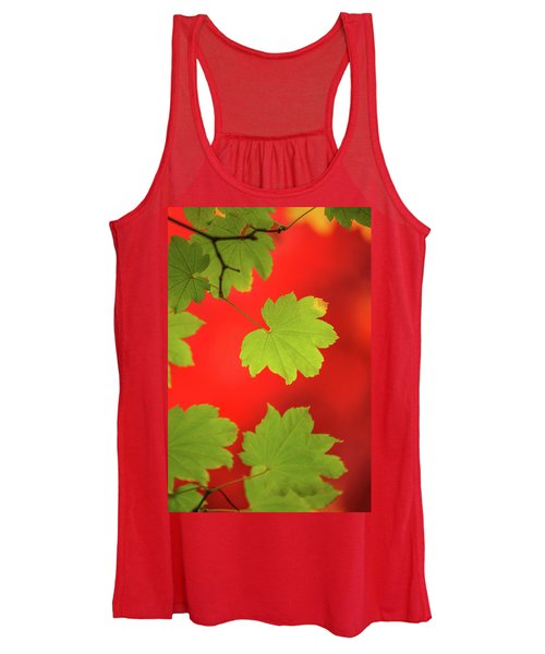 Women's Tank Top featuring the photograph Autumn by Bob Cournoyer