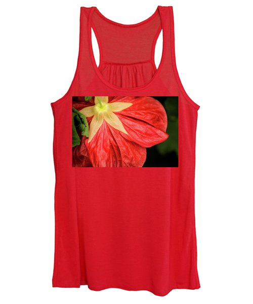 Back Of Red Flower Women's Tank Top