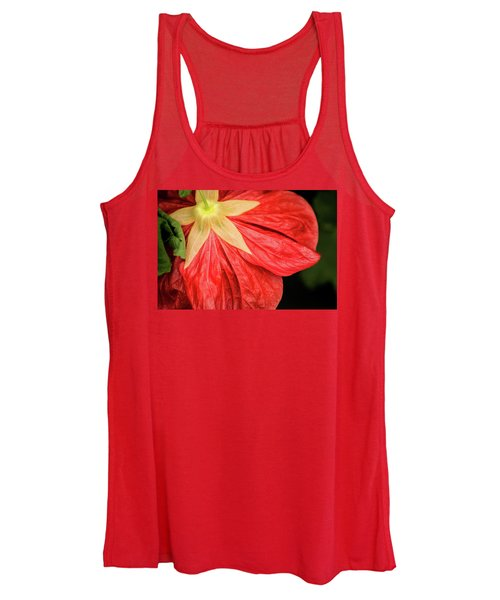 Back Of Red Flower Women's Tank Top