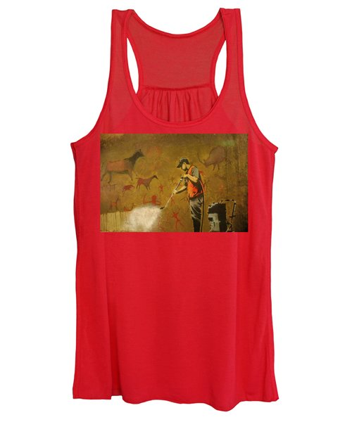 Banksy's Cave Painting Cleaner Women's Tank Top