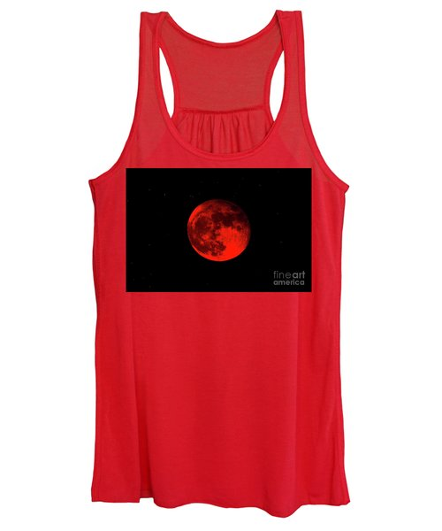 Blood Red Wolf Supermoon Eclipse 873a Women's Tank Top