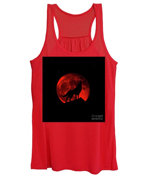 Blood Red Wolf Supermoon Eclipse 873l Women's Tank Top